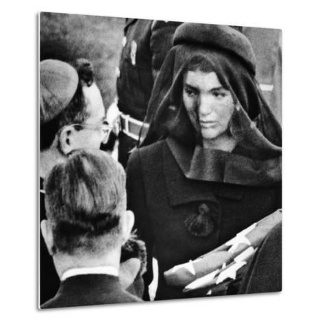 Jacqueline Kennedy at President John Kennedy's Funeral--Metal Print