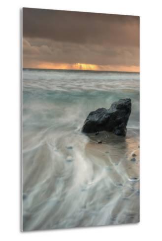 Sunset Rock Seascape-Vincent James-Metal Print