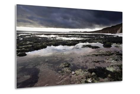 Dramatic Sky over Bridligton from Sewerby Rocks, East Riding of Yorkshire, England, United Kingdom-Mark Sunderland-Metal Print