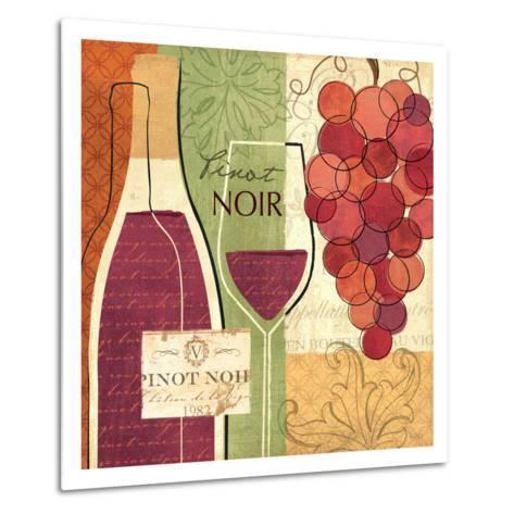 Wine and Grapes I-Veronique Charron-Metal Print