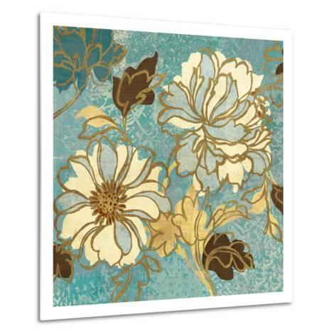 Sophias Flowers I Blue-Hugo Wild-Metal Print