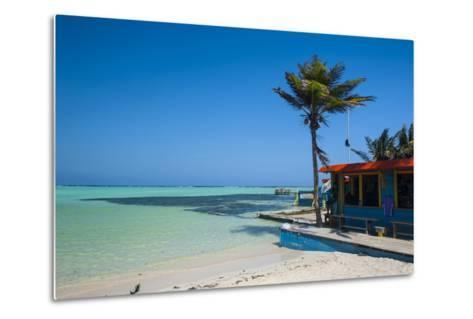 Turquoise Water Lac Bay, Bonaire, ABC Islands, Netherlands Antilles, Caribbean, Central America-Michael Runkel-Metal Print