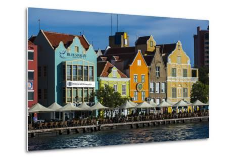 The Dutch Houses at Sint Annabaai in Willemstad, UNESCO Site, Curacao, ABC Is, Netherlands Antilles-Michael Runkel-Metal Print