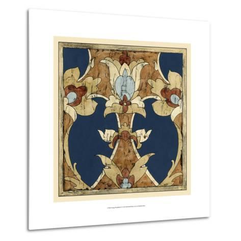 Vintage Woodblock IV-Chariklia Zarris-Metal Print