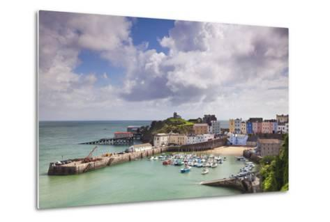 Tenby Harbour, Pembrokeshire, West Wales, Wales, United Kingdom, Europe-Billy Stock-Metal Print