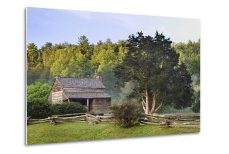 Pioneer Cabins in Cades Cove, Great Smoky Mountains National Park, Tennessee, USA--Metal Print