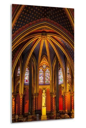 The Lower Chapel, Sainte Chapelle, Paris, France-Brian Jannsen-Metal Print