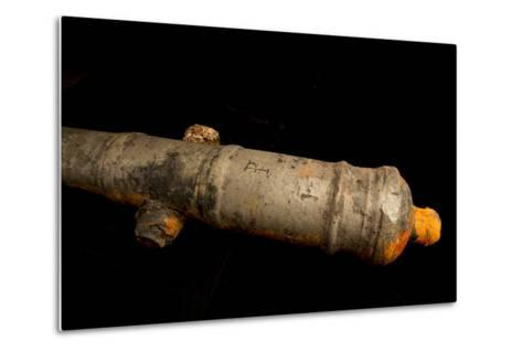 A 17th Century Cannon Found on a Shipwreck in Panama-Jonathan Kingston-Metal Print