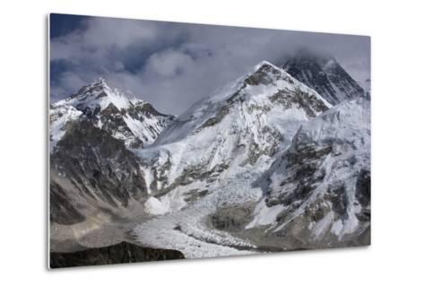 The Khumbu Icefall on the Way Up to Mount Everest-Jonathan Irish-Metal Print
