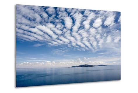Clouds over Lake Titicaca and Taquile Island, in the Distance-Jonathan Irish-Metal Print