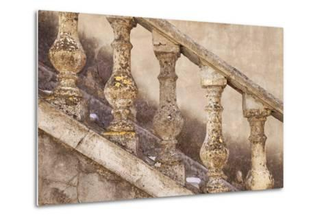 Stone Balusters, Staircase Leading to Home in Greoux-Les-Bains, Provence, France-Brian Jannsen-Metal Print