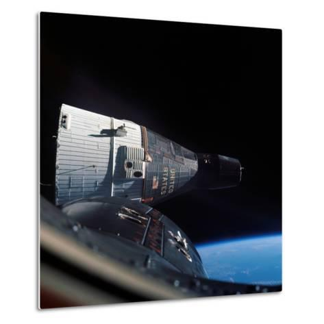The Gemini 7 Spacecraft in Earth Orbit-Stocktrek Images-Metal Print