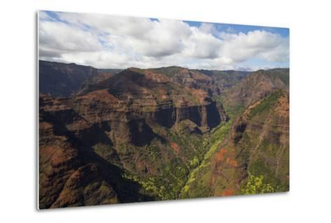 Waimea Canyon, Kauai, Hawaii, USA-Douglas Peebles-Metal Print