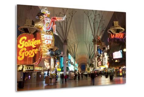 Fremont Street Experience Las Vegas, Nevada, USA-Michael DeFreitas-Metal Print
