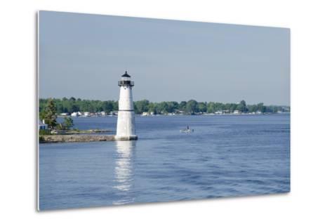Lighthouse, St. Lawrence Seaway, Thousand Islands, New York, USA-Cindy Miller Hopkins-Metal Print