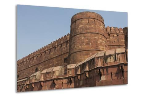A Low Angle View of Agra Fort-Jonathan Irish-Metal Print