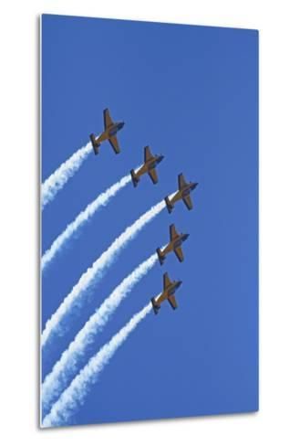 The Red Checkers Aerobatic Display Team with CT-4B Airtrainers-David Wall-Metal Print