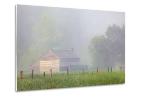 Pioneer's Cabin, Misty Cades Cove, Great Smoky Mountains National Park, Tennessee, USA--Metal Print