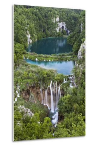 Plitvice Lakes in the National Park Plitvicka Jezera, Croatia-Martin Zwick-Metal Print