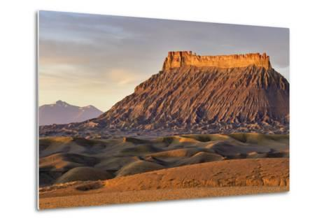 Factory Butte, the Henry Mountains, Upper Blue Hills Near Hanksville, Utah, USA-Chuck Haney-Metal Print