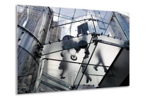 The Glass Apple Store On Fifth Avenue in New York City-Ira Block-Metal Print