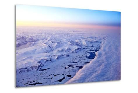 Aerial View of a Snow Covered Barren Landscape in Russia--Metal Print