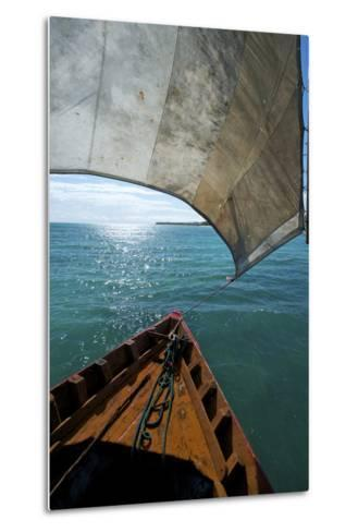 View From a Fishing Dhow Off the Coast of Matemo Island, Mozambique-Jad Davenport-Metal Print