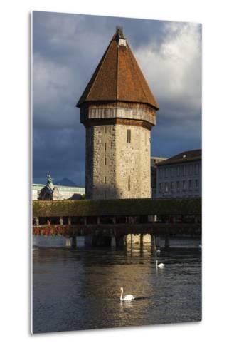Chapel Bridge, Europe's Oldest Covered and the World's Oldest Truss Bridge-Jonathan Irish-Metal Print