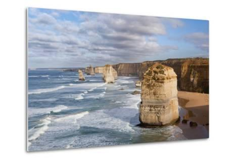 Coastline, 12 Apostles, Great Ocean Road, Port Campbell Np, Victoria, Australia-Martin Zwick-Metal Print