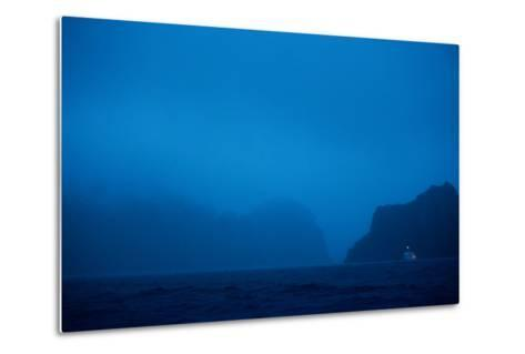 A Boat Moors for the Night in the Harbor-Ben Horton-Metal Print