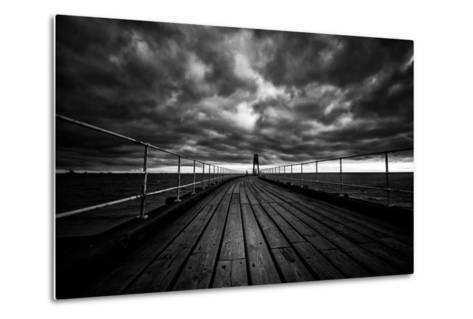 Whitby Pier-Rory Garforth-Metal Print