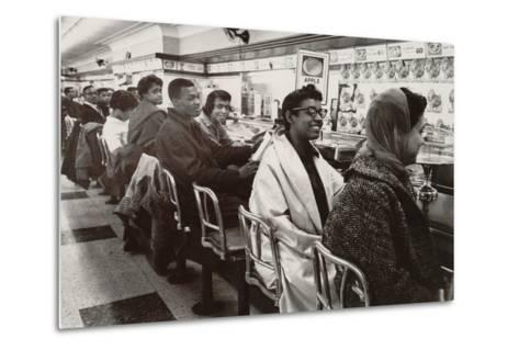 African Americans Sit in at a Lunch Counter in Nashville, Tennessee in 1960--Metal Print