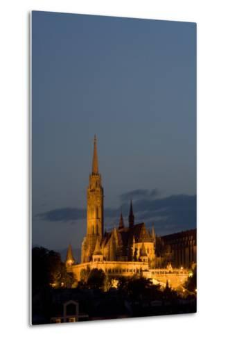 A Twilight View of Matthias Church in Buda Castle-Joe Petersburger-Metal Print