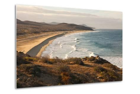 A Barely Visible Surfer on a Wave-Ben Horton-Metal Print