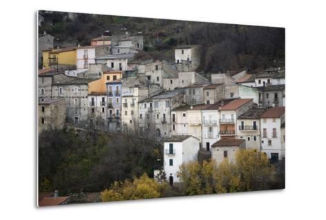 The Small Hillside Town of Prezza Near Pratola Peligna, Italy-Scott S^ Warren-Metal Print
