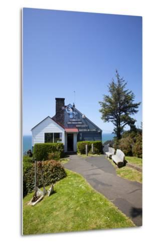 The Lookout Observatory and Gift Shop, Cape Foulweather, Oregon, USA-Jamie & Judy Wild-Metal Print