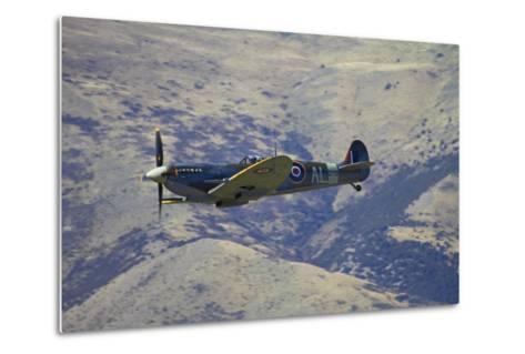 Supermarine Spitfire, British and Allied WWII War Plane, South Island, New Zealand-David Wall-Metal Print