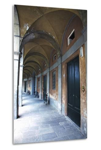 Arched Hallway, Lucca, Italy-Terry Eggers-Metal Print