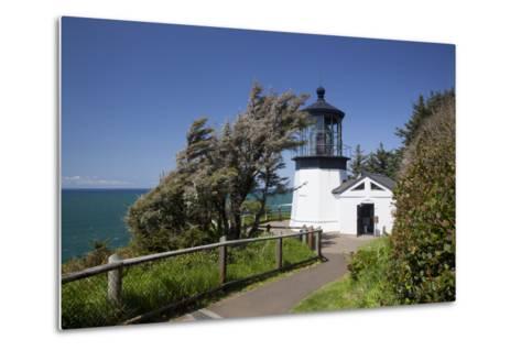 Cape Meares State Viewpoint, Cape Meares Lighthouse, Oregon, USA-Jamie & Judy Wild-Metal Print