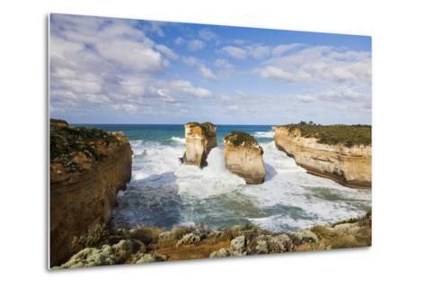 Coastline, Loch Ard Gorge, Elephant Rock, Muttonbird Is, Great Ocean Road, Australia-Martin Zwick-Metal Print