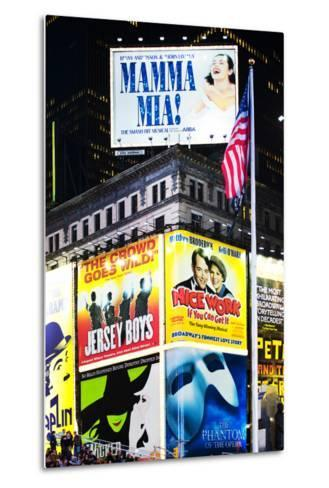 Advertising - Times square - Manhattan - New York City - United States-Philippe Hugonnard-Metal Print
