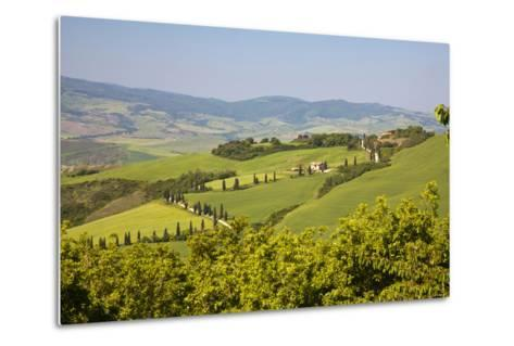 Famous Road Winding Through the Tuscan Hillside, Italy-Terry Eggers-Metal Print