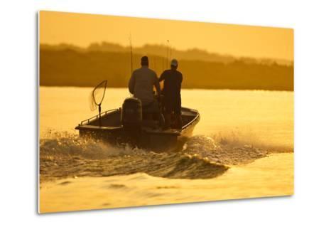 Fishermen Boating Toward the Laguna Madre, Texas, USA-Larry Ditto-Metal Print