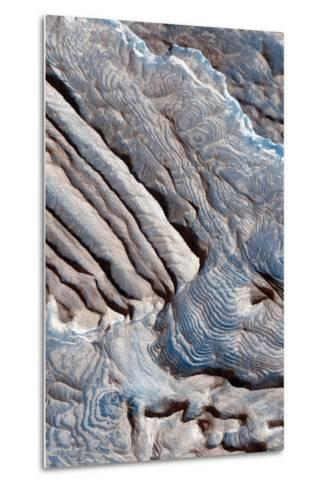 Periodic Layering in the Becquerel Crater on Mars--Metal Print