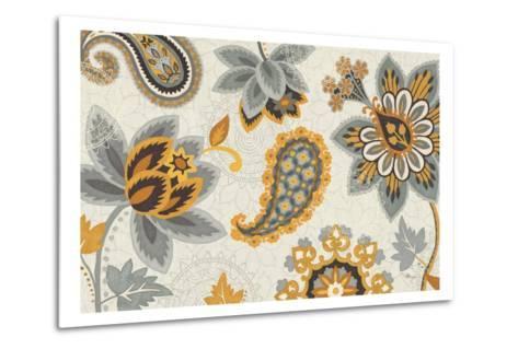 Decorative Nature I Yellow Gray Cream-Pela Design-Metal Print