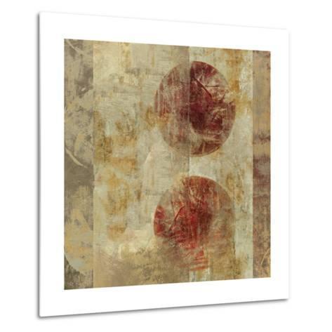 Caribbean Sunrise Square III-Roque Silva-Metal Print