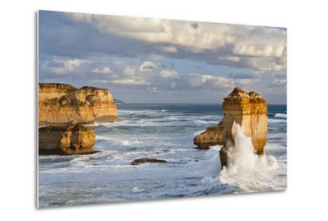 Cliffs, Loch Ard Gorge, View Towards the 12 Apostles, Great Ocean Road, Australia-Martin Zwick-Metal Print