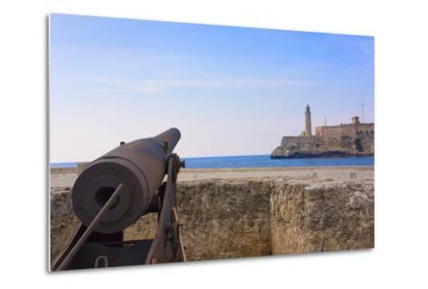 Seawall, El Morro Fort, Fortification, Havana, UNESCO World Heritage Site, Cuba-Keren Su-Metal Print