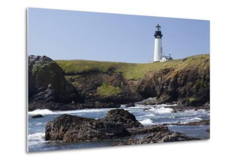 Yaquina Head Lighthouse, 1873, Newport, Oregon, USA-Jamie & Judy Wild-Metal Print