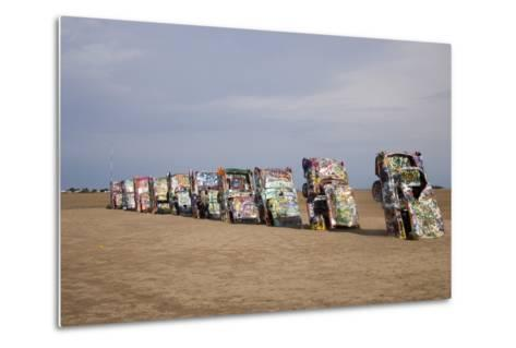 Cadillac Ranch Is a Public Art Installation in Amarillo Texas Was Created in 1874--Metal Print